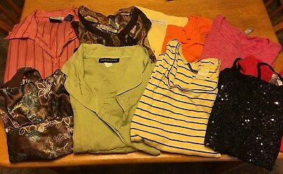Womens Lot Sale Of 10 Tops Assorted Styles, Colors & Brands Size Medium