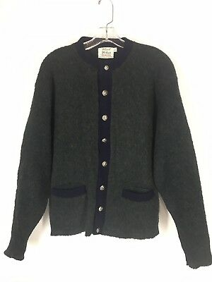 Wool And Mohair By Campus Sweater Cardigan Sz L Made In USA