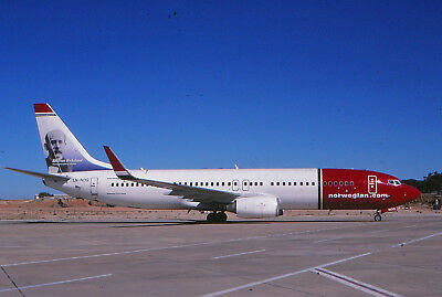 NORWEIGIAN -NORWAY -B737-8 -LN-NOQ -KODACHROME slide AIRLINE
