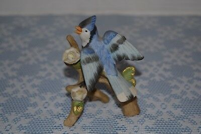 Collectible Ceramic Blue Jay Bird Figurine