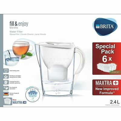 New  Marella Cool MAXTRA+ Plus Water Filter Jug 2.4L + 6 Month Cartridges Pack