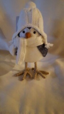 Stuffed Winter Bird Figurine from Target, (Clipper) 7 Inches