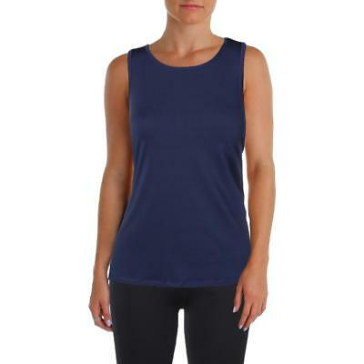 Ellen Tracy 3756 Womens Navy Yoga Fitness Running Tank Top Athletic S BHFO