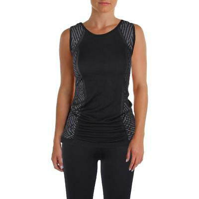 Ellen Tracy 3537 Womens Black Yoga Fitness Running Tank Top Athletic S/M BHFO