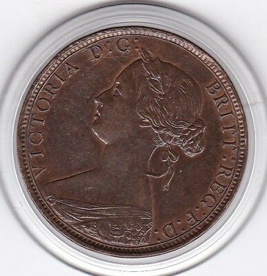 Sharp  1862  Queen Victoria   One  Half  Penny (1/2d)  Bronze  Coin