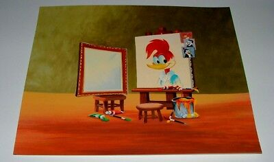 Woody Woodpecker Backdrop Painting On Cardboard - Leaves Room To Overlay Photo