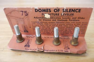 Vintage DOMES OF SILENCE Furniture Levelers New Old Stock