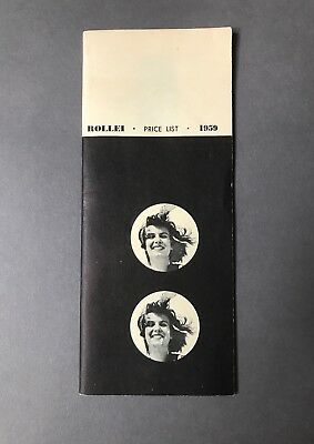Vintage Photography - ROLLEIFLEX 1959 Price List Brochure for your collection