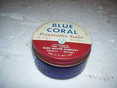 Rare 1950s Ford Blue Coral jar can - nice shape bottle