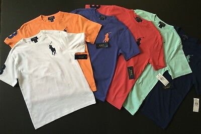 Ralph Lauren Polo Big Pony Crew Neck T Shirt Youth Kid Size S M L XL GENUINE NEW