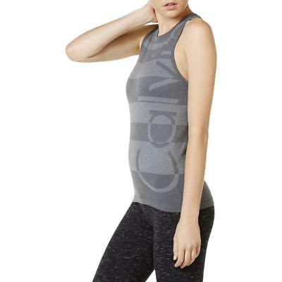 Calvin Klein Performance 0433 Womens Gray Fitness Stretch Tank Top Shirt S BHFO