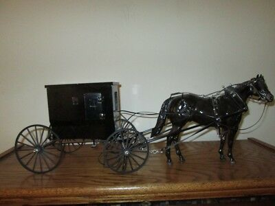 Peter Stone Special Amish Horse with Custom Buggy/Harness