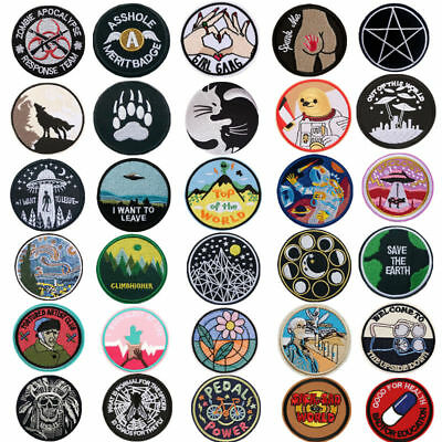Embroidered Sew Iron On Patch Badge Fabric Transfer Bag Hat Jeans Applique Craft