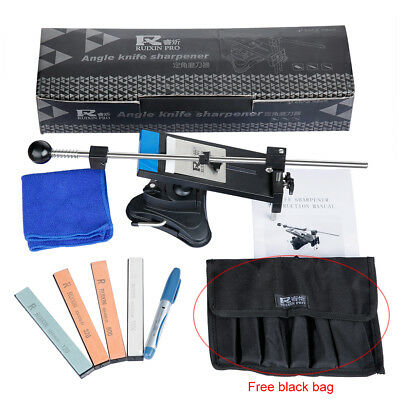 Free Ship Kitchen Sharpening Wicked Knife Sharpener System Fix-angle 4 Stones II