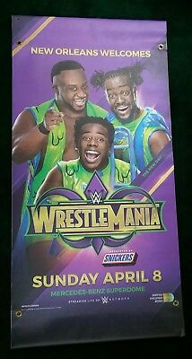 WWE WrestleMania 34 (2018) The New Day Banner 2'x4'