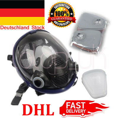 7 in 1 Facepiece Respirator Painting Spraying For 3M 6800 Full Face Gas Mask DHL
