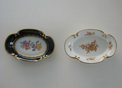 2 Small Porcelaine Dishes by JLMENAU, Grat von Henneberg Porsellan, East Germany