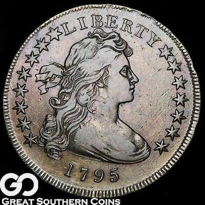 1795 Draped Bust Dollar, Small Eagle, Highly Demanded Early Silver Type, Scarce!