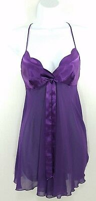 Victoria's Secret Women's Purple Baby doll Nightie Teddy Lingerie Size-XS