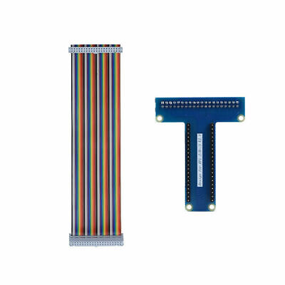 For Raspberry Pi 2B 3B T-Type GPIO Extension Board + 40 Pin Ribbon Flat Cable AF