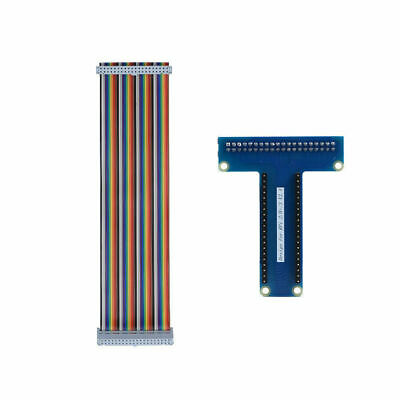 For Raspberry Pi 3/2B T-Type Breakout Extension Board + 40 Pin GPIO Ribbon Cable
