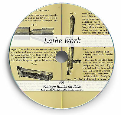 Rare Books on DVD  Lathe Work Wood Metal Turning Metalworking Milling Cutters D9