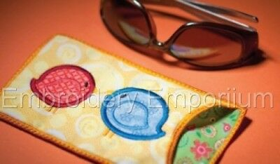 In The Hoop Eye Glass Cases Collection - Machine Embroidery Designs On Cd