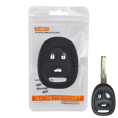 Silicone Key Cover Remote Case For Saab 9-3 9-5 Fob Holder 3 Button