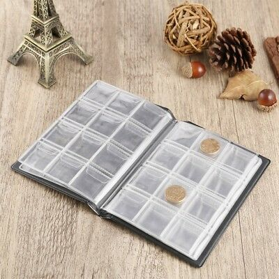 Portable 120 Coin Collection Book Holders Money Penny Pocket Album Folder K6