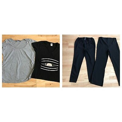 Womens maternity bundle size 16 next new look black trousers tops