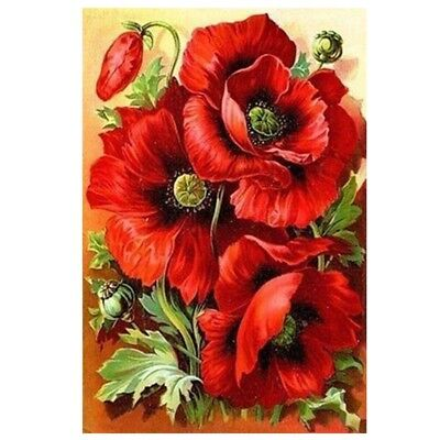10X(DIY 5D Diamond Embroidery Painting Cross Stitch Kit Flower Home Deco:re G1T1
