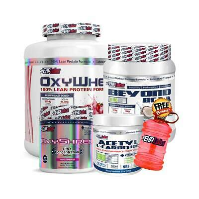 EHPLabs Oxy Stack 5lbs OxyWhey + BCAA + Shred + Carnitine EHP Protein Fat Loss