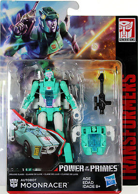 Transformers ~ MOONRACER ACTION FIGURE ~ Deluxe Class ~ Power of the Primes