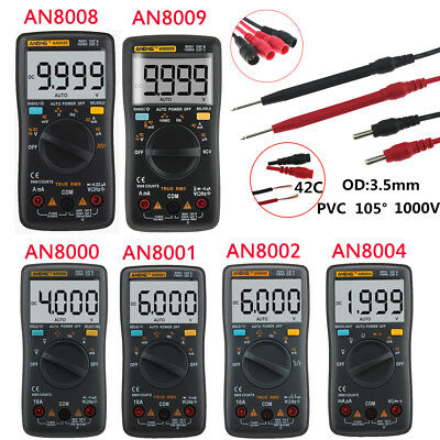AN8000/AN8009 9999 Counts Digital LCD Multimeter AC/DC Current Voltage Ammeter
