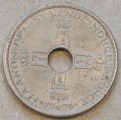 Norway 1925 Krone Better Circulated Grade as Pictured