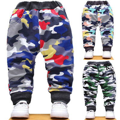 Kid Baby Boys Girls Jogger Pants Army Camo Sweatpants Tracksuit Bottoms Trousers
