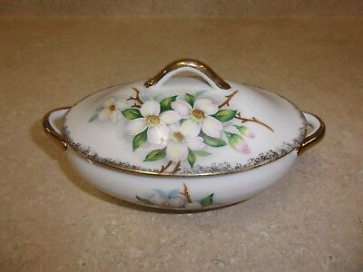 Vintage Dogwood Sugar Bowl Gold Accents NW JAPAN NW-DW 58