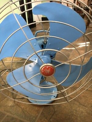 Vintage Antique Ge General Electric Vortalex Art Deco Fan Blue