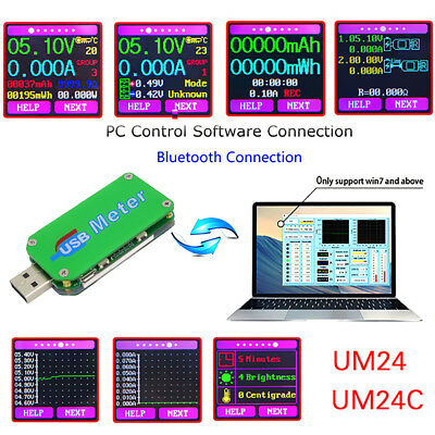 UM24C UM24 USB 2.0 Color Display LCD Tester Voltage Current Power Temp Meter UK