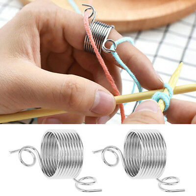 Knitting Craft Tool Knitting Thimble Metal Yarn Guide Yarn Thread Guide Hand GRT