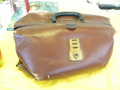 Vintage Doctors lawyers Briefcase , Genuine Leather
