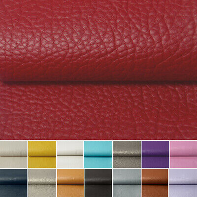 Faux Leather Leatherette Fabric Upholstery Fabric Material 1 Metre 15 Colours