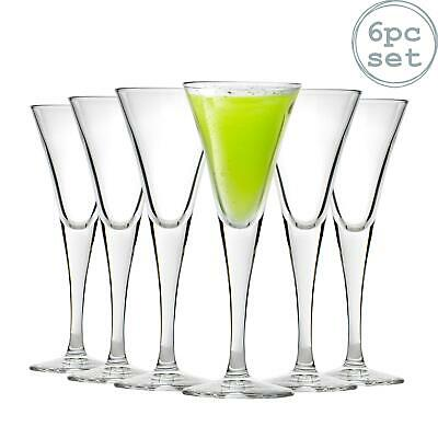 6x Fiore Clear Stemmed Sherry Glasses - 55ml