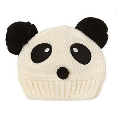 10X(Lovely Animal Panda Baby Knitted Hats Kids Winter Keep Warm Crochet Bea A6G8