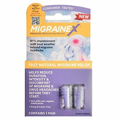 Cirrus MigraineX Ear Plugs Earplug Natural Migraine Relief Weather Change P576A