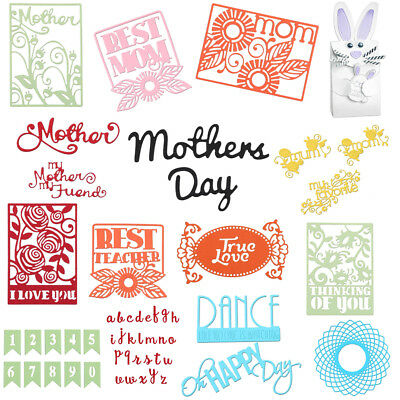 Mother's Day Metal Cutting Dies Stencil Scrapbook Paper Card Craft Embossing DIY