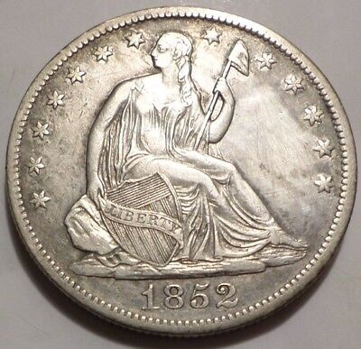 1852-O Seated Liberty Half Dollar XF Or Better Details Extra fine; Cleaned Key