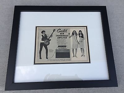 Guild Starfire Bass and Thunderbass amp Framed Ad