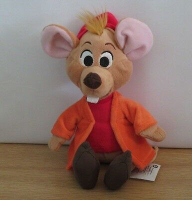 """Disney Jaq the Mouse from Cinderella Soft Plush Bean toy. Disney Store. 10"""""""