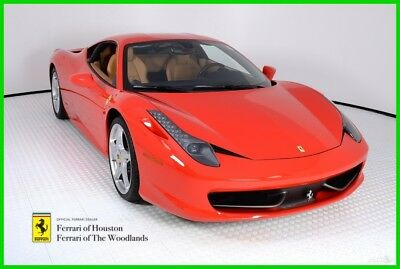 Ferrari 458  2012 FERRARI 458 ITALIA, ROSSO CORSA OVER BEIGE, FERRARI APPROVED WITH WARRANTY